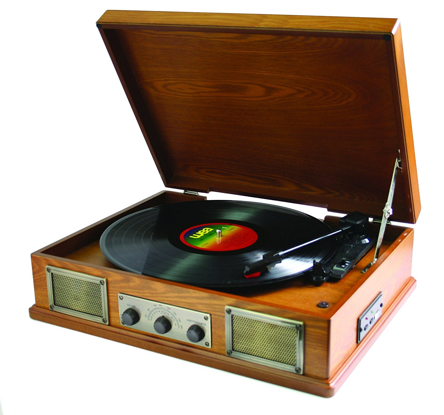 Norwich (Dark) - Retro Style Record Player -plus Radio and MP3