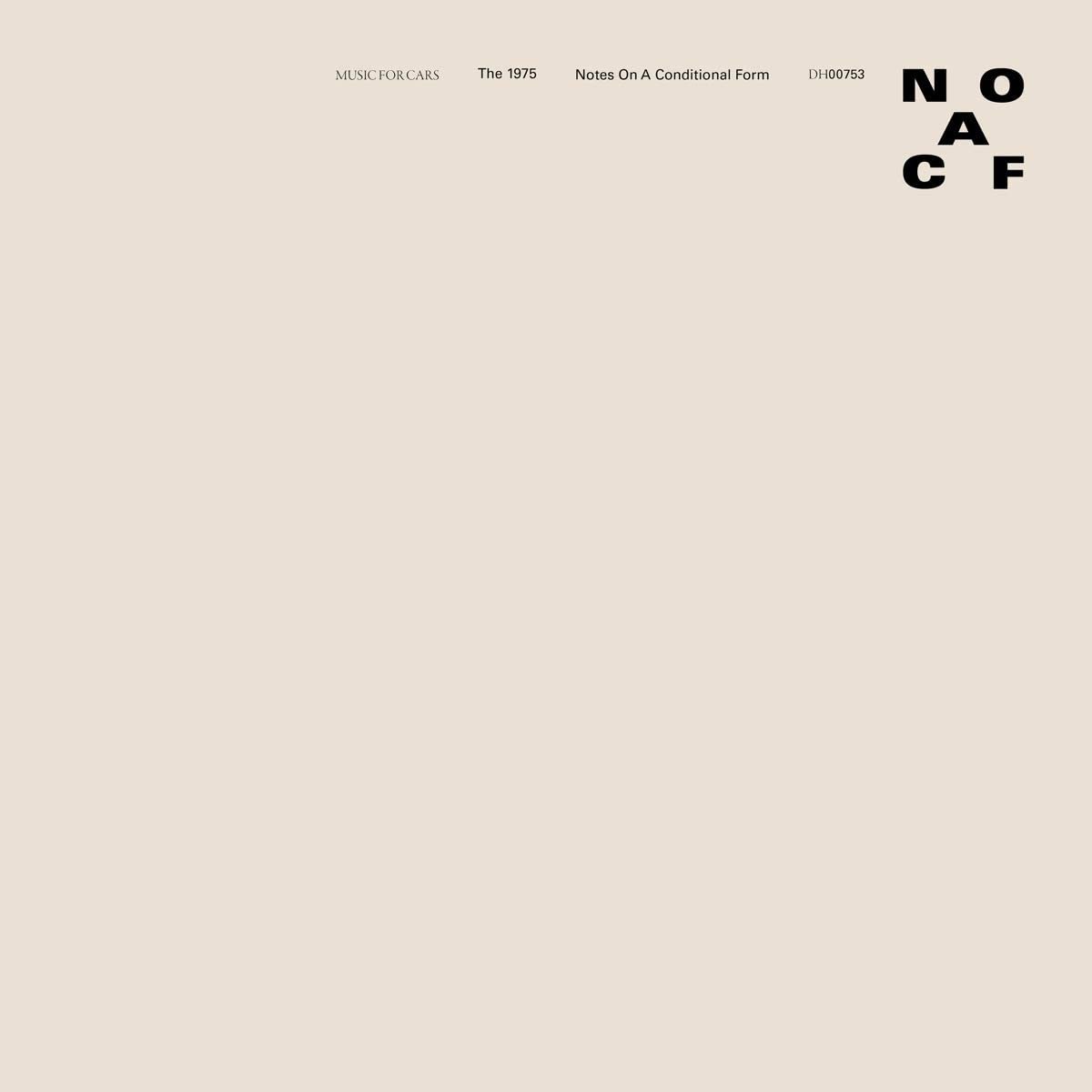 THE 1975 - Notes On A Conditional Form - 2LP - White Vinyl -Limited Edition