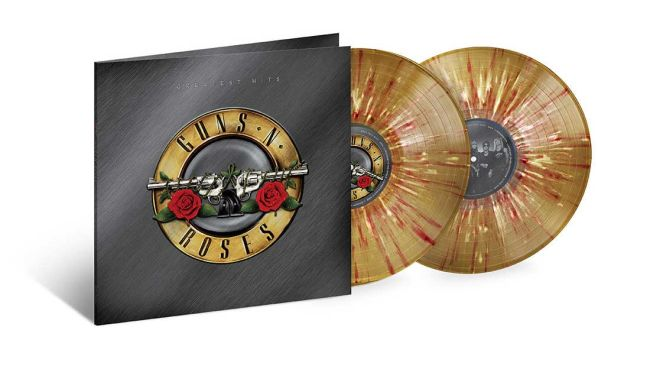 GUNS N ROSES – Greatest Hits – 2LP Limited Gold With White/Red Splatter Vinyl [SEPT 25th]