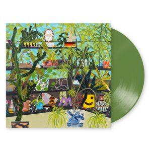 olive green vinyl